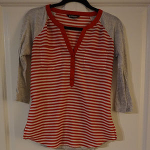 Red Striped Express Shirt - Size S